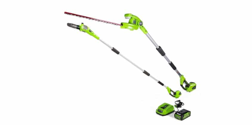 Greenworks 8.5' 40V Cordless Pole Saw with Hedge Trimmer Review