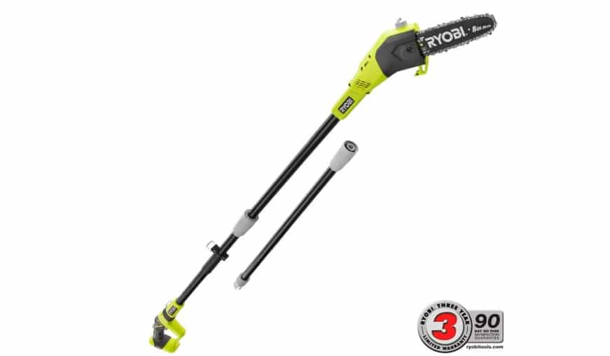 Ryobi One+ 8 in. 18-Volt 9.5 ft. Cordless Electric Pole Saw Reviews
