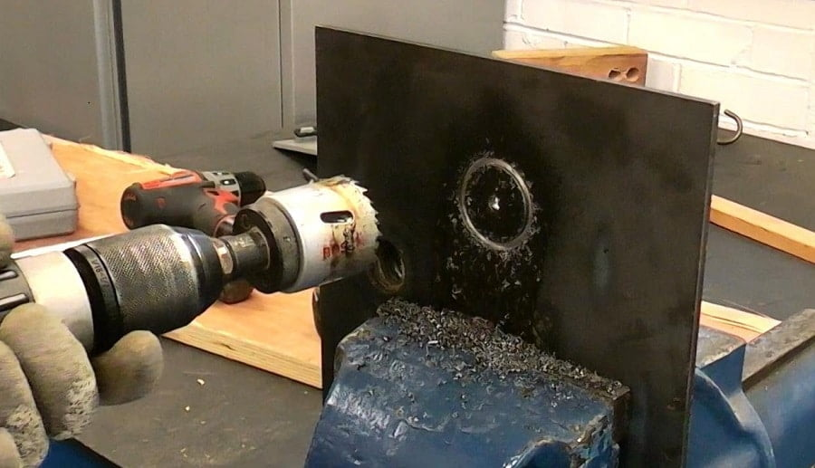 How to cut a round hole in sheet metal