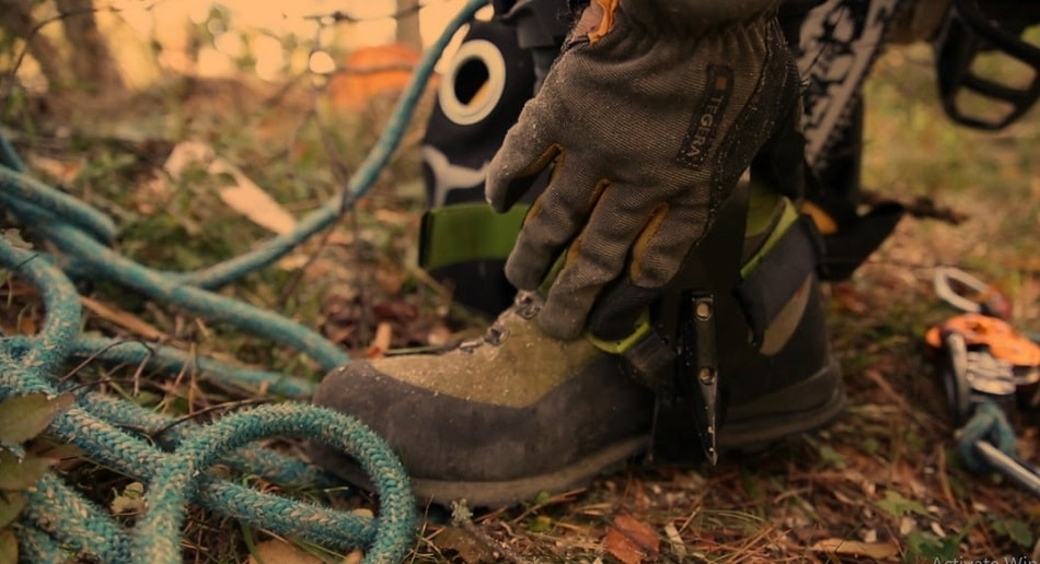 How to Put on Tree Climbing Spikes